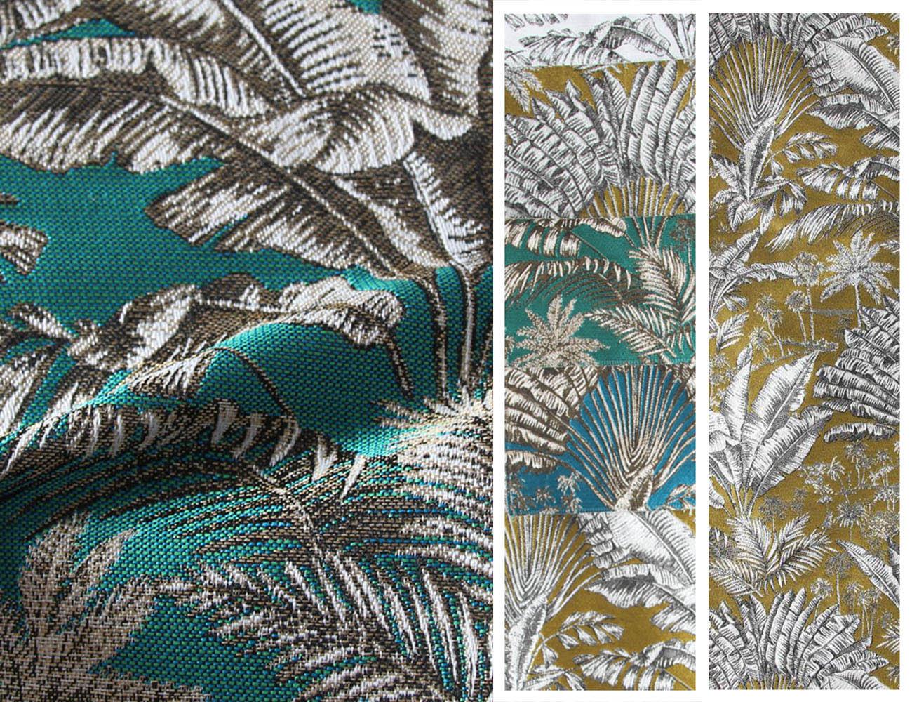 Натуральные сюжетные ткани с цветочными узорами