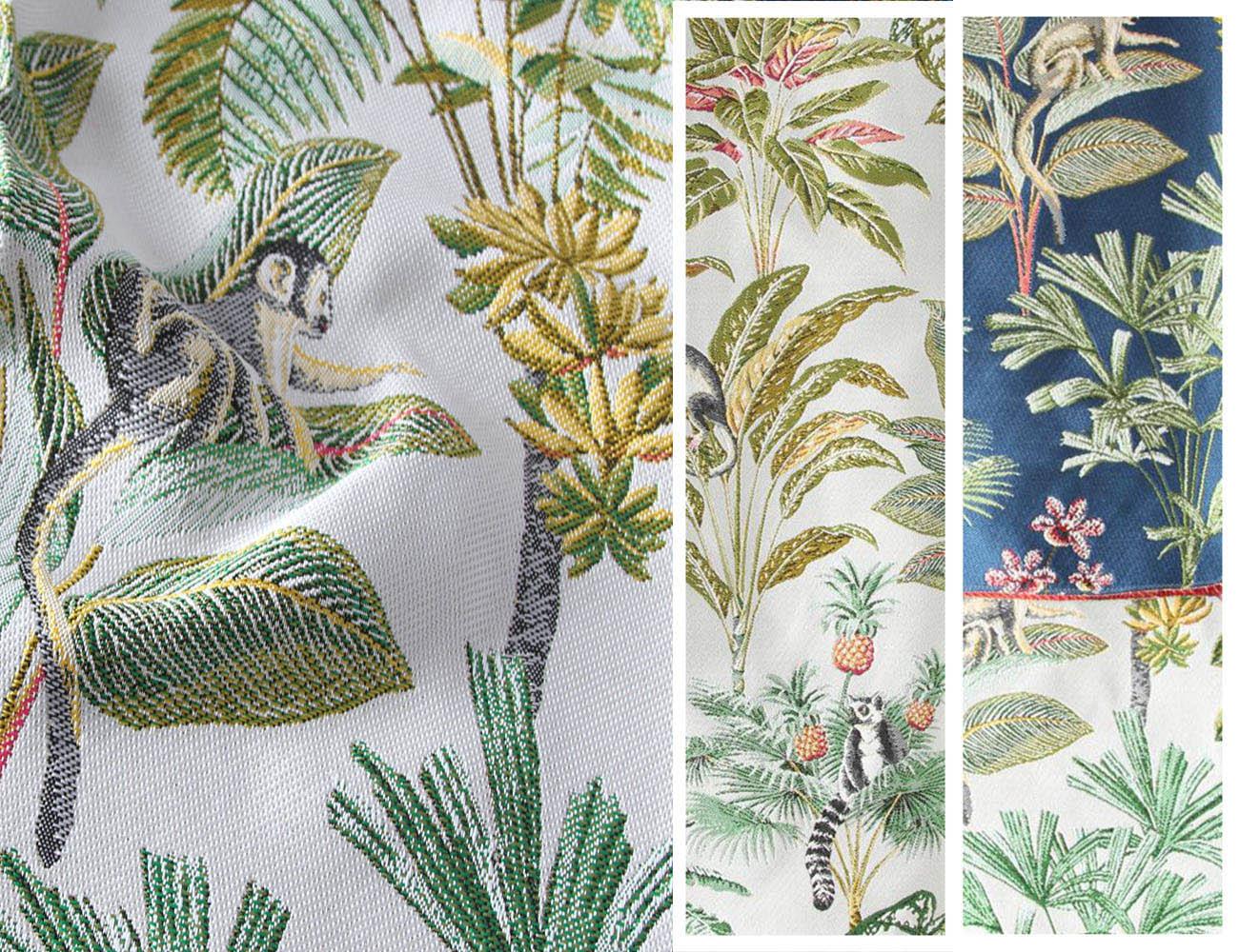 Натуральная ткань с цветочными узорами