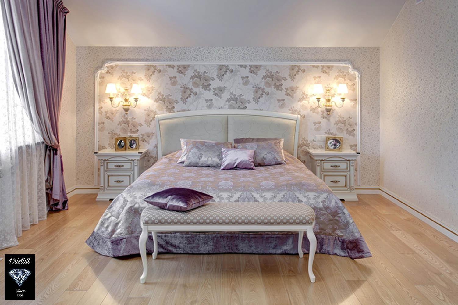 Шторы для гламурной спальни