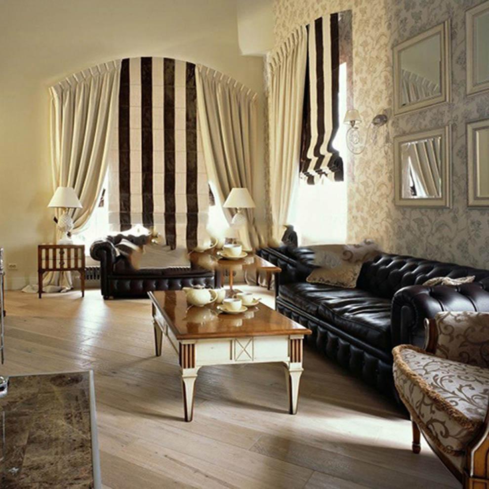 Текстильный дизайн-проект гостиной